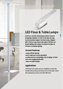 LED Floor & Table Lights
