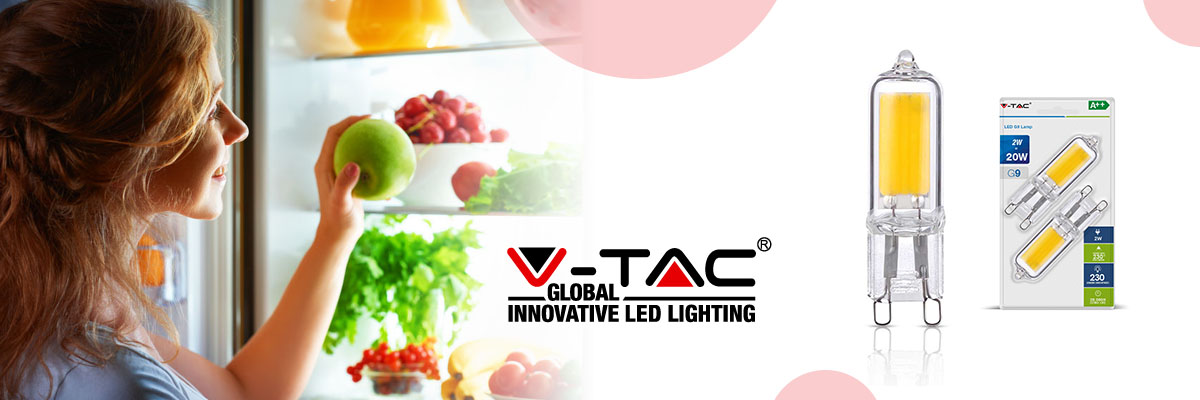 LED lights in refrigerators keep the products fresh