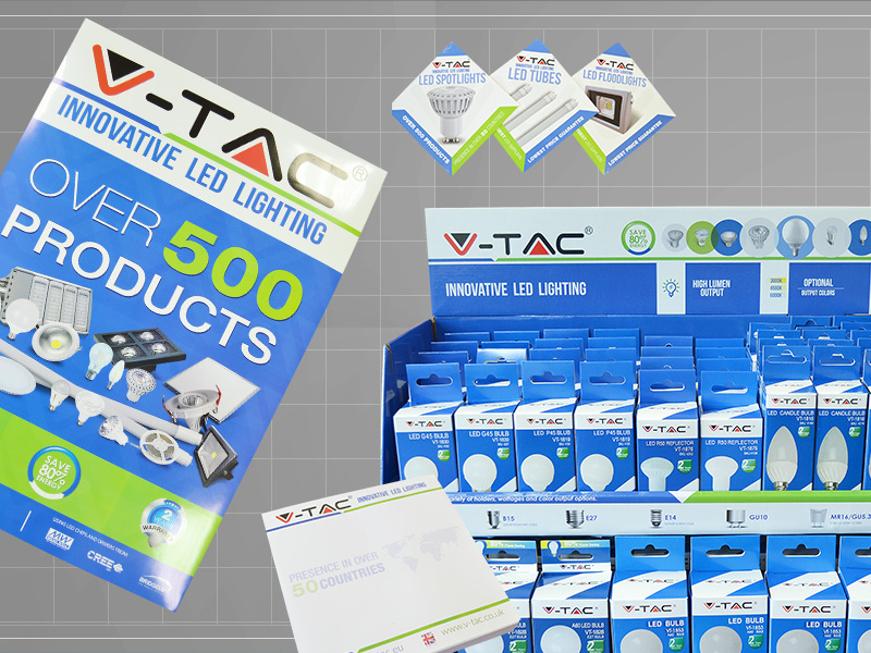 Marketing materials - catalogues, carton boards, exhibition stands