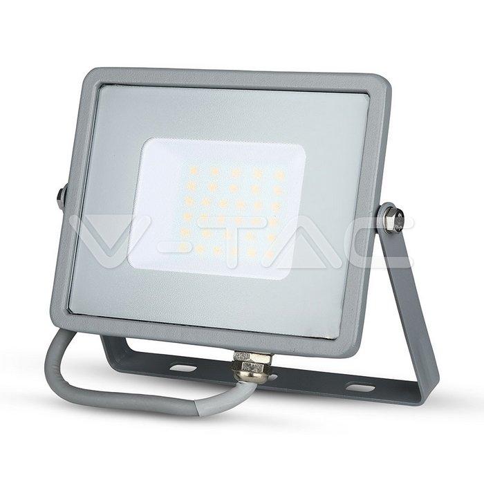 V-TAC VT-34ST 6400K 957 LED-Außenstrahler LED fest eingebaut 30W Hellgrau